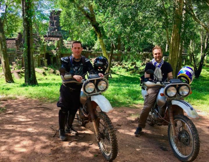 Trevor Ranges at Preah Khan temple in Kompong Svay Cambodia